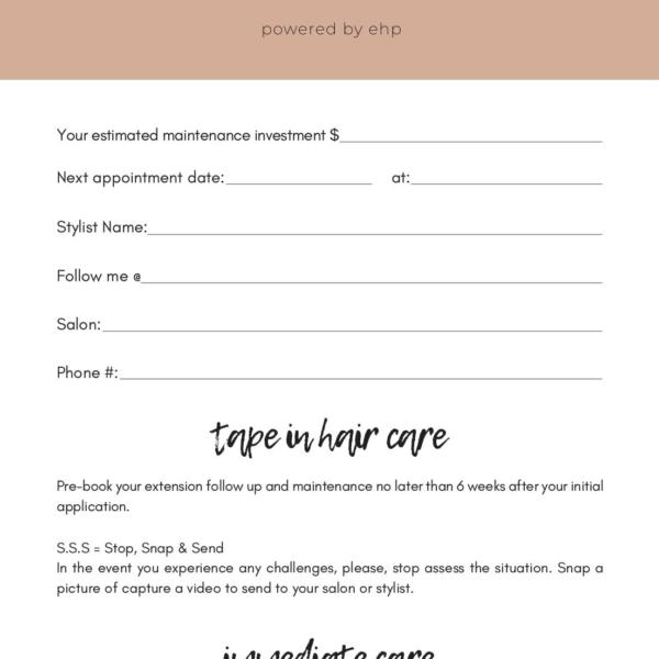 Hair Care 101 Card